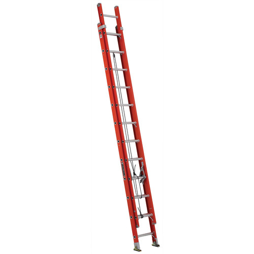 Louisville FE3224 24 ft. Type IA Duty Rating 300 lbs. Load Capacity Fiberglass Extension Ladder image number 0