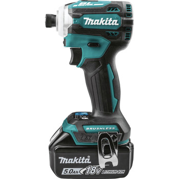 Makita XDT16T 18V LXT Lithium-Ion Brushless Cordless Quick-Shift Mode 4-Speed Impact Driver Kit (5 Ah) image number 1