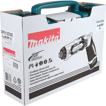 Makita DF012DSE 7.2V Lithium-Ion 1/4 in. Cordless Hex Drill Driver Kit with Auto-Stop Clutch (1.5 Ah) image number 7