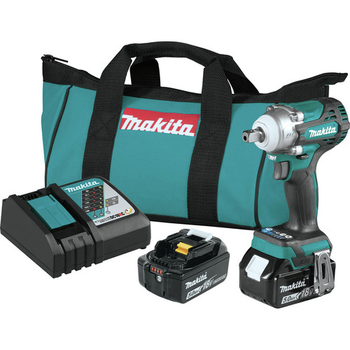 Makita XWT15T 18V LXT 4-Speed Brushless Lithium-Ion 1/2 in. Cordless Impact Wrench with Detent Anvil (5 Ah) image number 0