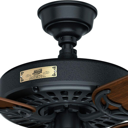 Hunter 23838 52 in. Outdoor Original Black Ceiling Fan image number 6