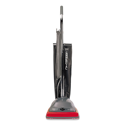 Sanitaire SC679K TRADITION 5 Amp 600-Watt Upright Vacuum with Shake-Out Bag - Gray/Red image number 0