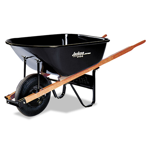 Jackson Professional J6 6CU.FT. STEEL TRAY CONTRACTOR WHEELBARROW