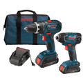 Bosch CLPK232-181 18V 2.0 Ah Cordless Lithium-Ion 1/2 in. Drill Driver and Impact Driver Combo Kit