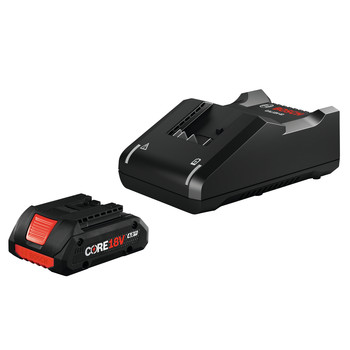Bosch GXS18V-15N15 18V CORE18V Starter Kit with (1) 4.0 Ah Lithium-Ion Compact Battery and Charger