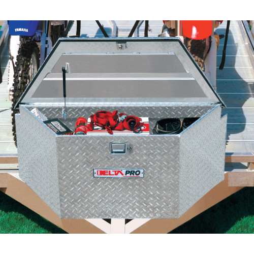 Delta 415000D 33 in. Long Aluminum Trailer Tongue Box - Bright (Open Box)