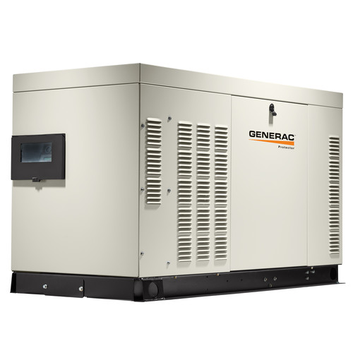 Generac RG02515ANAX Protector 120/240V 1.5L 25 kW Single Phase Liquid-Cooled LP/Natural Gas Aluminum Automatic Standby Generator image number 0
