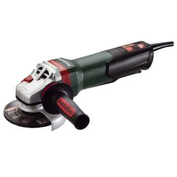 Metabo WPB12-125 Quick 10.5 Amp 5 in. Angle Grinder with Brake/Non-Locking Paddle Switch