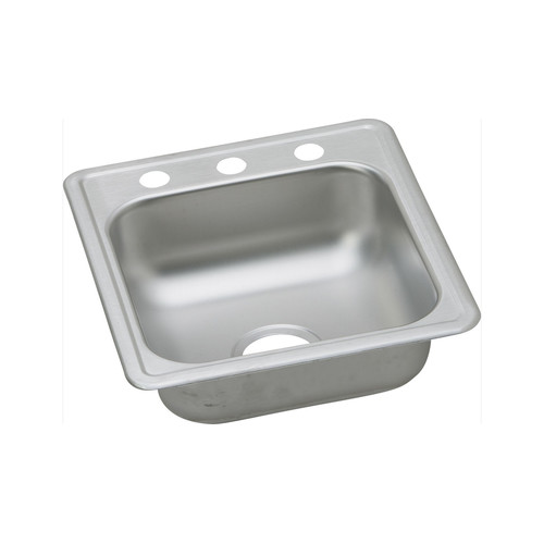 Elkay D117192 Dayton Drop In 17 in. x 19 in. Single Basin Kitchen Sink (Stainless Steel) image number 0