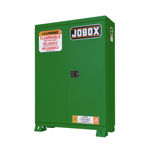 JOBOX 1-857670 45 Gallon Heavy-Duty Self-Closing Safety Cabinet (Green)