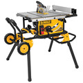 Dewalt DWE7499GD 10 in. 15 Amp Site-Pro Compact Jobsite Table Saw with Guard Detect and Rolling Stand
