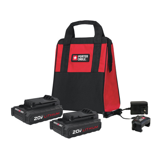 Porter-Cable PCCK888LB 20V MAX Charger and Batteries Accessory Set