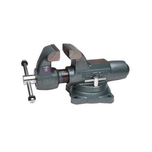 Wilton 10016 400S, Machinists' Bench Vise - Swivel Base, 4 in. Jaw Width, 6-1/2 in. Jaw Opening, 3-1/2 in. Throat Depth