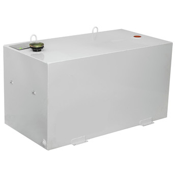 JOBOX 551980D 96 Gallon Rectangular Steel Liquid Transfer Tank - White