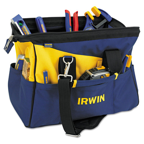Irwin 4402020 Contractors Zippered Tool Bag, 16in image number 0