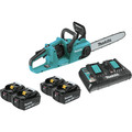 Makita XCU03PT1 18V X2 (36V) LXT Lithium-Ion Brushless Cordless 14-in Chain Saw Kit with 4 Batteries (5.0Ah)