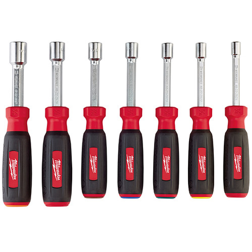 Milwaukee 48-22-2517 7-Piece Magnetic HollowCore Metric Nut Driver Set
