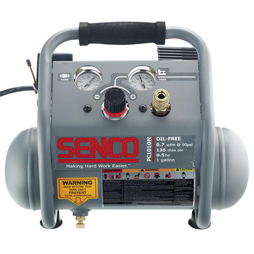 Factory Reconditioned SENCO PC1010NR 0.5 HP 1 Gallon Finish and Trim Air Compressor