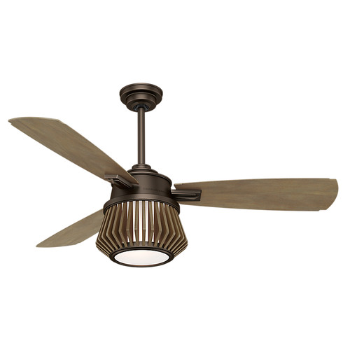 Casablanca 59162 Glen Arbor 56 in. Metallic Chocolate Timber Plywood Indoor Ceiling Fan with Light and Remote