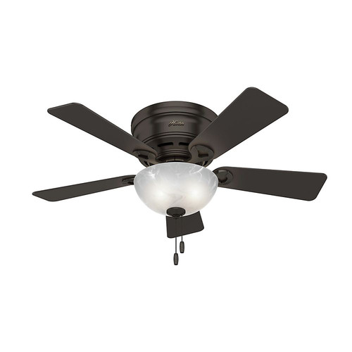 Hunter 52137 42 in. Haskell Premier Bronze Ceiling Fan with Light