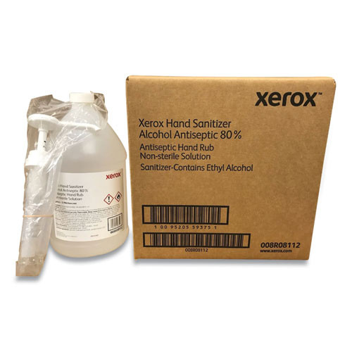 Xerox 008R08112 4-Piece 1 gal. Bottle with Pump Liquid Hand Sanitizer - Clear, Unscented image number 0