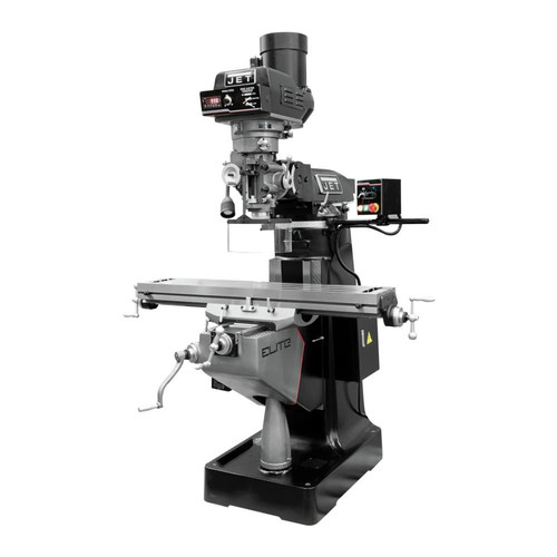 JET 894363 EVS-949 Mill with 3-Axis Newall DP700 (Quill) DRO and X, Y, Z-Axis JET Powerfeeds image number 0