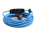 Century Wire D18030025 PowerTech 20 Amp 12/3 AWG GFCI Triple Tap Extension Cord with Adapter - 25 ft. (Blue)