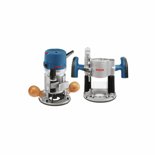 Bosch 1617EVSPK 12 Amp 2.25 HP Combination Plunge and Fixed-Base Router Kit image number 0