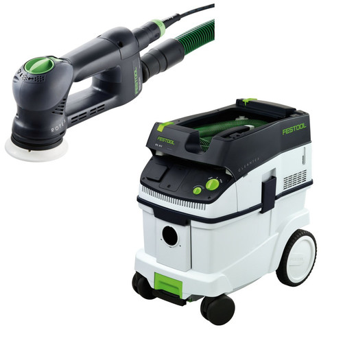 Festool RO 90 DX Rotex 3-1/2 in. Multi-Mode Sander with CT 36 E 9.5 Gallon HEPA Dust Extractor
