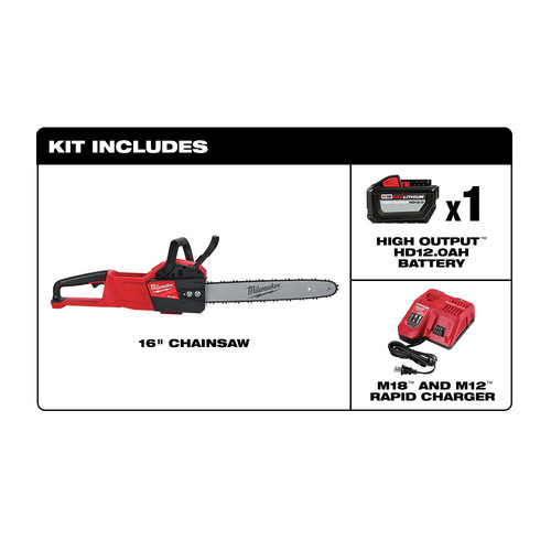 Milwaukee 2727-21HD M18 FUEL 16 in. Chainsaw Kit image number 1