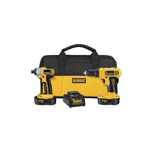Dewalt DCK235C 18V Cordless 1/2 in. Compact Drill Driver and Impact Driver Combo Kit