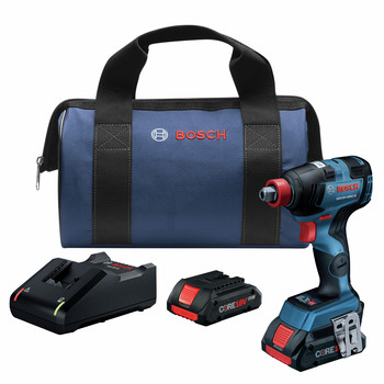 Bosch GDX18V-1800CB25 Freak 18V EC Brushless Connected 1/4 in. and 1/2 in. 2-in-1 Bit/Socket Impact Driver Kit with CORE18V 4.0 Ah Compact Batteries image number 0