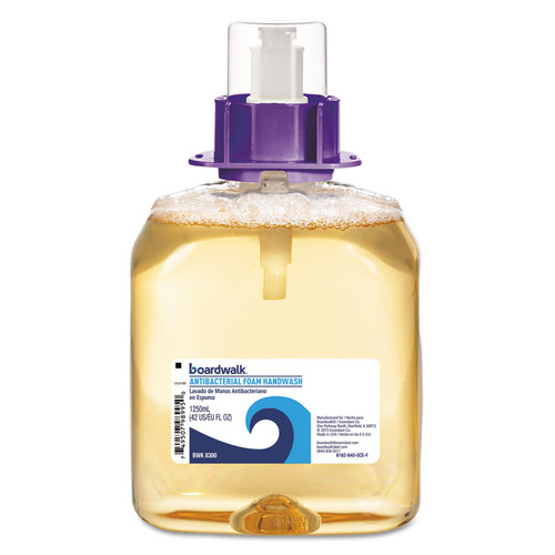 Boardwalk 6162-04-GCE00VL 4/Carton 1250 mL Foam Antibacterial Handwash Refill - Fruity image number 0