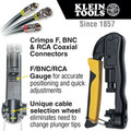 Klein Tools VDV211-063 Heavy-Duty Multi-Connector Compression Crimper image number 5