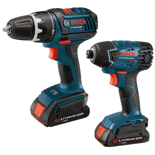 Factory Reconditioned Bosch CLPK232-180-RT 18V Cordless Lithium-Ion 1/2 in. Drill Driver and Impact Driver Combo Kit