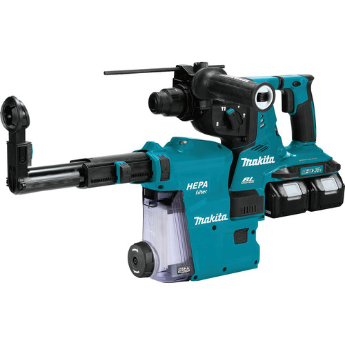 Makita XRH10PTW 18V X2 LXT (36V) 5.0 Ah Brushless Cordless 1-1/8 in. AVT Rotary Hammer Kit, accepts SDS-PLUS bits with Extractor, AFT, AWS Capable image number 0