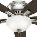 Hunter 53315 52 in. Newsome Brushed Nickel Ceiling Fan with Light image number 6