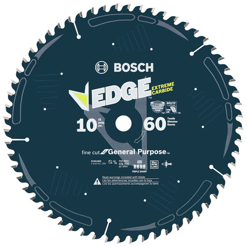 Bosch DCB1060 Daredevil 10 in. 60 Tooth Fine Finish Circular Saw Blade