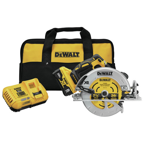 Dewalt DCS574W1 20V MAX XR Brushless Lithium-Ion 7-1/4 in. Cordless Circular Saw with POWER DETECT Tool Technology Kit (8 Ah) image number 0