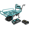 Makita XUC01PTX2 18V X2 LXT Brushless Cordless Power-Assisted Hand Truck/Wheelbarrow Kit with Flat Bed (5.0Ah)