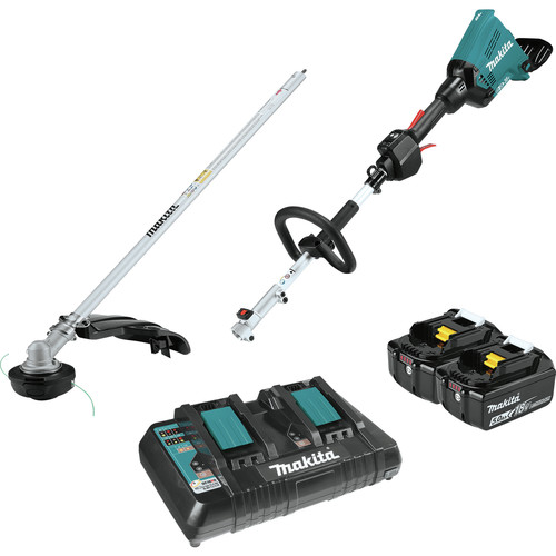 Makita XUX01M5PT 18V X2 (36V) LXT Lithium-Ion Brushless Cordless Couple Shaft Power Head Kit with 5.0Ah String Trimmer Attachment image number 0