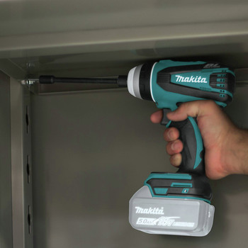 Makita XPT02Z 18V LXT Lithium-Ion Brushless Hybrid 4-Function 1/4 in. Cordless Impact Hammer Drill Driver (Tool Only) image number 7