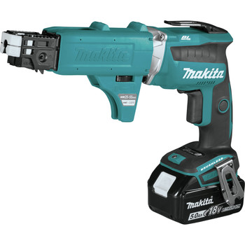 Makita XSF03TX2 18V LXT Lithium-Ion Brushless Cordless 4,000 RPM Drywall Screwdriver Kit with Autofeed Magazine (5 Ah) image number 2