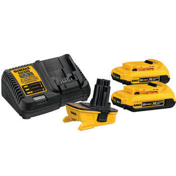 Dewalt DCA2203C 20V MAX Lithium-Ion Battery, Charger and Adapter Kit for 18V Cordless Tools (2 Ah)