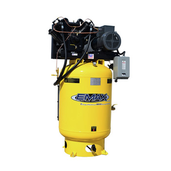 EMAX ESP10V120V1 Industrial Plus Silent Air 10 HP 1-Phase 120 Gal. Vertical Premium Industrial Electric Air Compressor