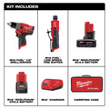 Milwaukee 2459-22 M12 FUEL Brushless Lithium-Ion Cordless 2-Tool Commercial Flat Tire Repair Kit (2 Ah / 4 Ah) image number 1