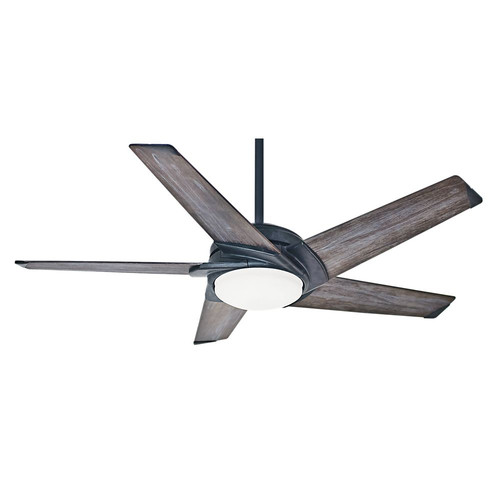 Casablanca 59093 54 in. Contemporary Stealth Aged Steel Grey Washed Indoor Ceiling Fan