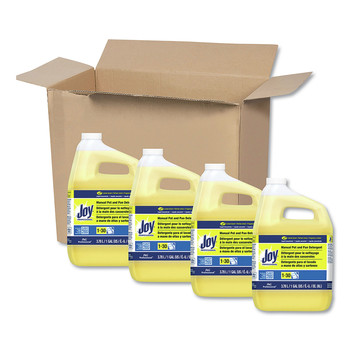 Fab 57447 Dishwashing Liquid, Lemon Scent, One Gallon Bottle, 4/carton
