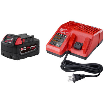Milwaukee 48-59-1850 M18 REDLITHIUM XC 5 Ah Lithium-Ion Battery and Charger Kit