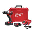 Milwaukee 2606-22CT M18 18V Cordless Lithium-Ion 1/2 in. Drill Driver Kit